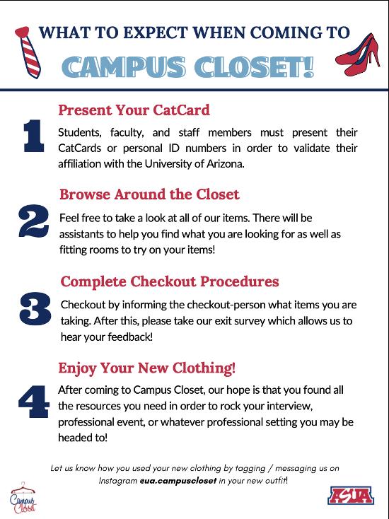 For more information at https://www.instagram.com/ua.campuscloset/